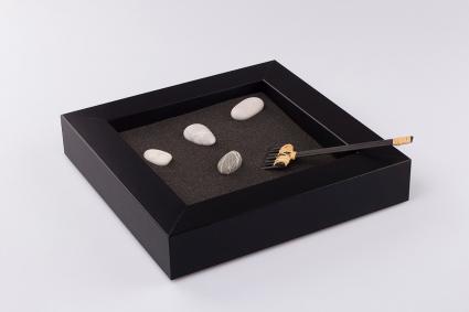 Mesa de jardín zen de madera
