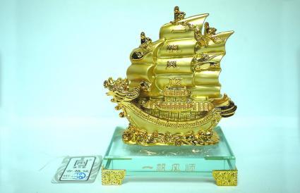 Barco Dorado de la Riqueza Feng Shui