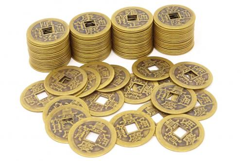 Monedas I-Ching para riqueza y éxito
