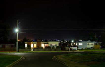 Suburbios Australianos de Noche