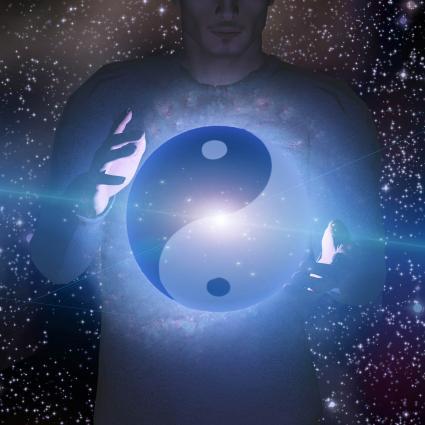 Yin Yang hombre estrella