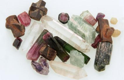 Diferentes tipos de cristales de colores