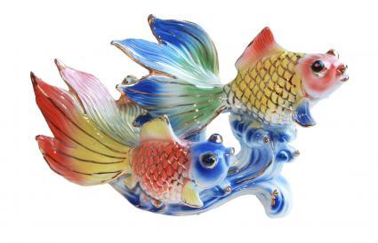 peces dorados dobles