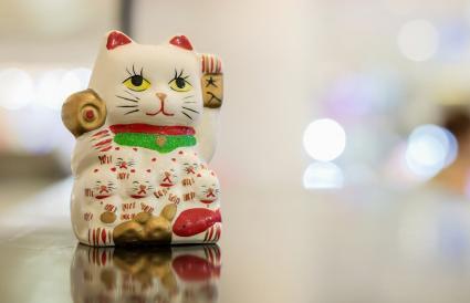 Estatua del gato afortunado
