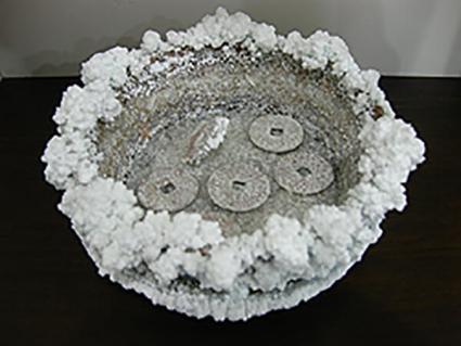 Cura de monedas con sal