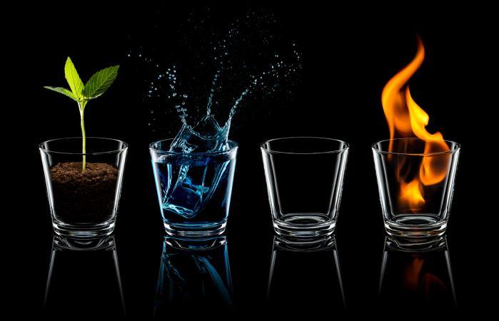 Elemento clásico - Tierra Agua Aire Fuego