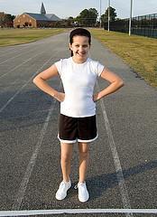 Girl exerciser