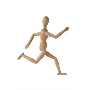 running stick figure