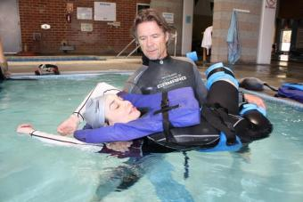 water therapy with patient