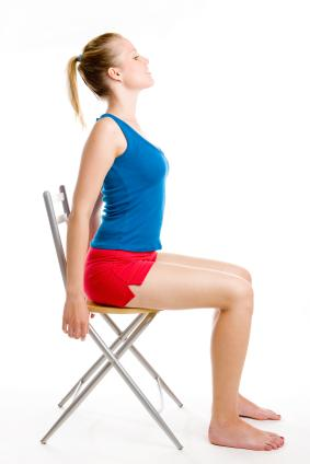 Exercising in a chair