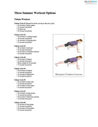Great Summer Workout Plans