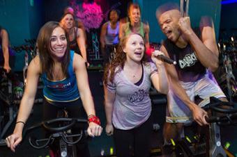 Karaoke cycle workout