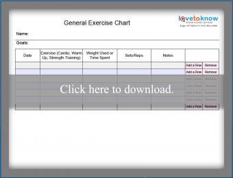 Blank Workout Chart