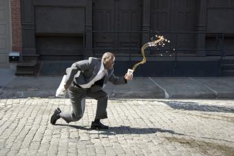 man tripping