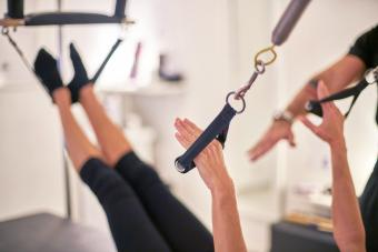 Gym equipment designed for pilates exercise routines