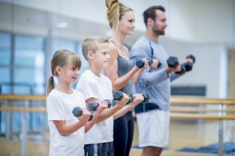 Family lifting weights