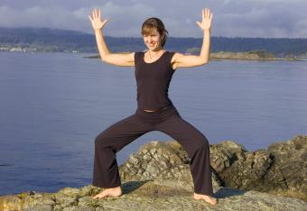 Ocean Goddess Squat pose