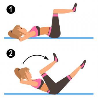 Pilates Criss Cross Crunch