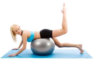 Working out with exercise ball