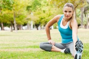 Healthy Woman Stretching