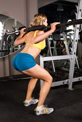 Woman doing squats