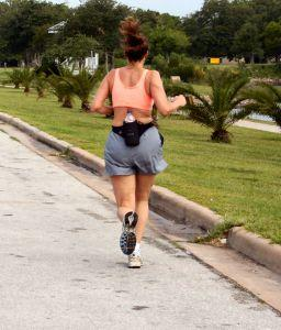 Woman jogging at park