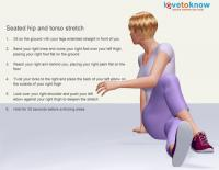 Seated hip and torso stretch