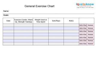weekly exercise chart james biltt co