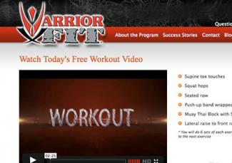 Screenshot of Warrior X Fit website