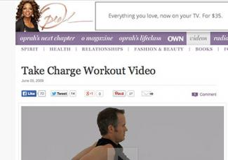 Screenshot of Joel Harper video on Oprah.com website