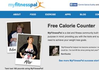 Screenshot of myfitnesspal.com