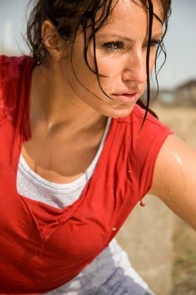 Sweating Woman