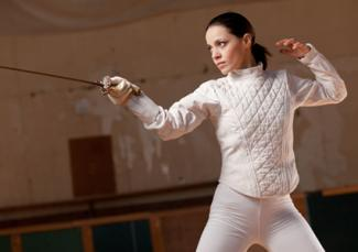 Woman fencer