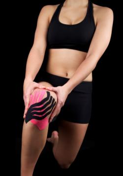 Athlete with sports tape