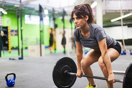 woman weight lifting