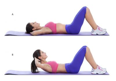 how to do crunches