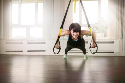 suspended push-up