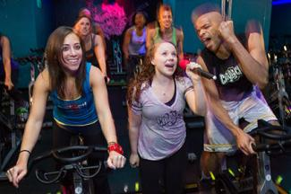 Karaoke cycle workout