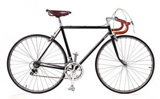 Side view of road bike