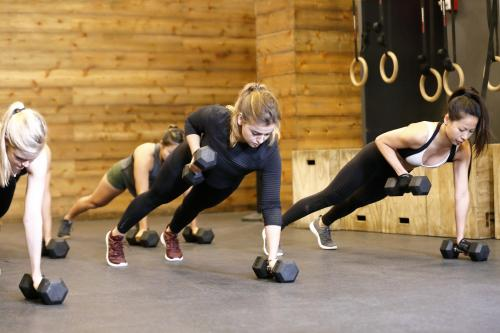 Strength training class