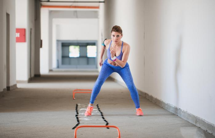 Jumping rope is a simple agility exercise