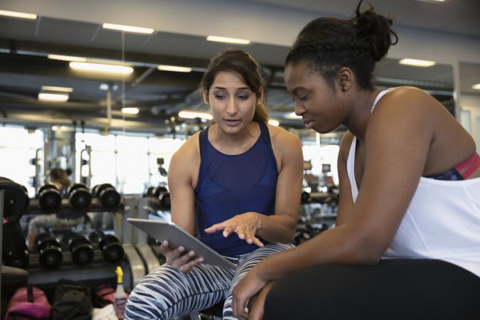 Training on the treadmill