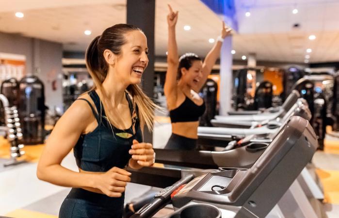 Women on a treadmill