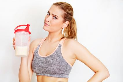 Woman Having Protein Drink