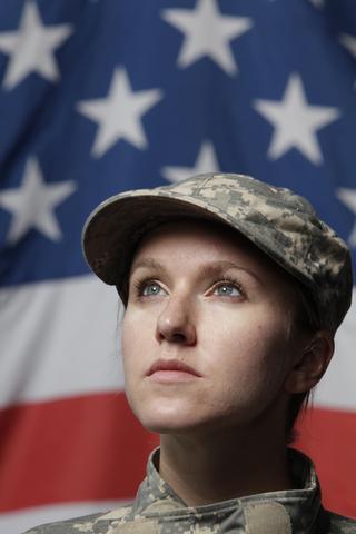 Female soldier; Copyright Elliot Burlingham at Dreamstime.com