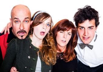 Funny family portrait