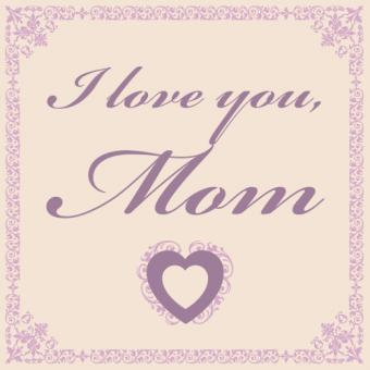 colored I love you mom