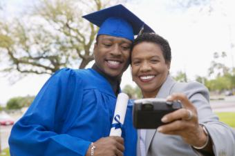 Graduate and mom taking a selfie
