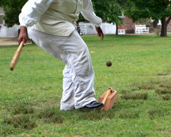 Early colonial baseball
