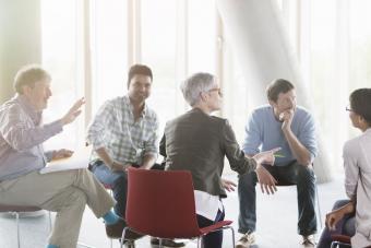 people talking in meeting